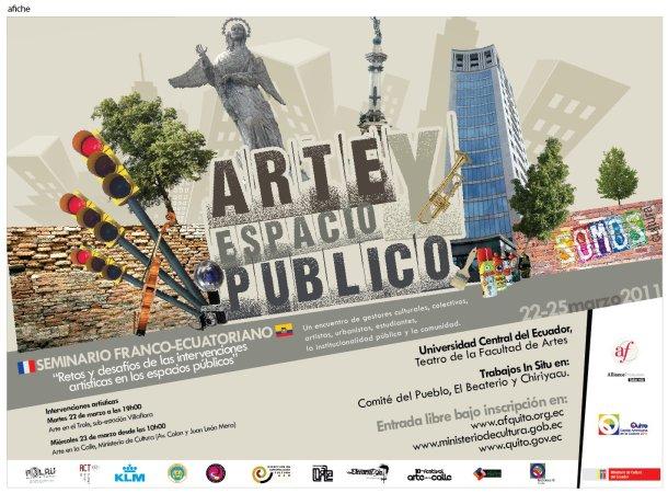 arte espacio publico, postal