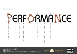 postal solo performance